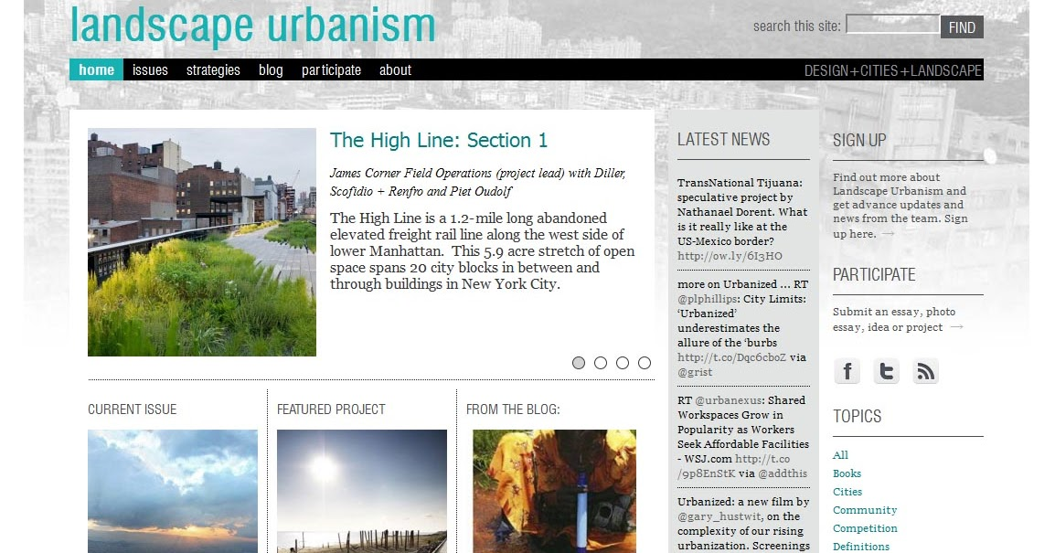 landscape urbanism essay A review of the landscape imagination: the collected essays of james corner 1990—2010, by james corner 2014 isbn 9781616891459 princeton.