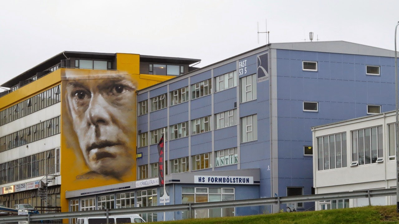 Guido Van Helten is currently in Iceland where he just wrapped up this new piece somewhere in Kopavogur, , a suburb of Reykjavik.