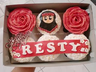 Cupcake Birthday Buttercream Cantik Daerah Surabaya - Sidoarjo