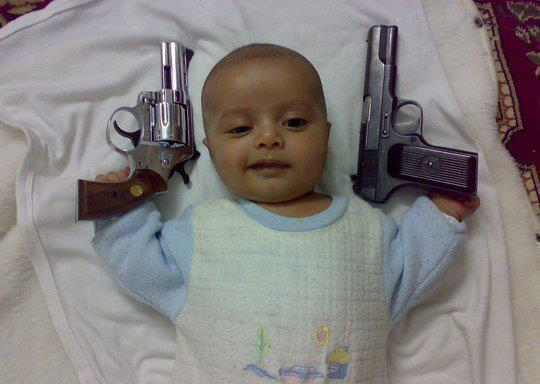PICS CAN SPEAK BABY GANGSTER FUNNY
