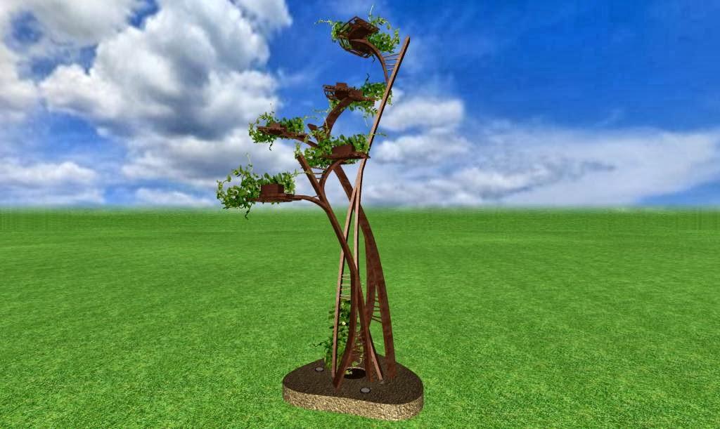 Adornos estilizados campos de amapolas y arboles en for Arboles de jardin fotos