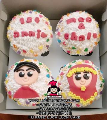 Cupcake Buttercream Anniversary Daerah Surabaya - Sidoarjo
