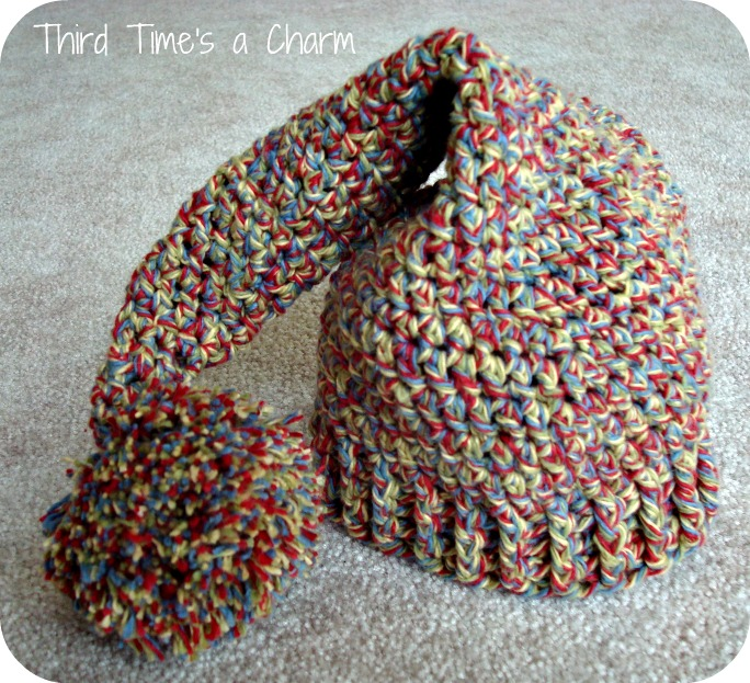 Crochet Pattern Stocking Hat : Third Times a Charm: Newborn Cap and Booties