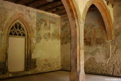 väggmålning, medeltida, kloster
