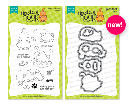 Newton's Antics stamp set and Die set by Newton's Nook Designs #die #newtonsnook #cat #stamps
