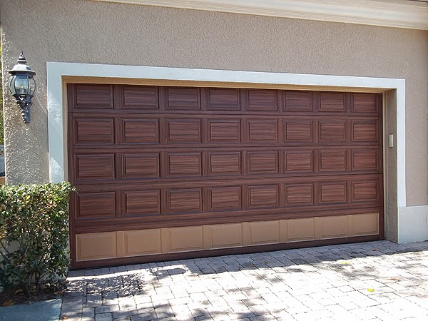 Everything i create paint garage doors to look like wood for Paint garage door to look like wood