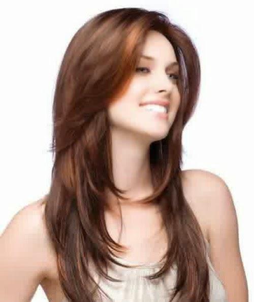Model Gaya Rambut Layer Panjang 2