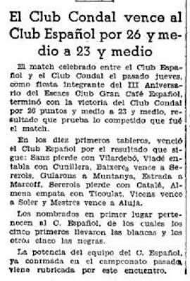 Recorte de una nota de prensa en 1935