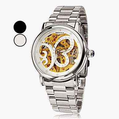 Reloj de pulsera de mujer con mariposa