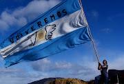 Las Malvinas siempre serán Argentinas. bandera