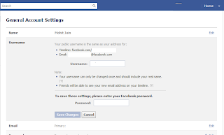 Create your Username on facebook ScreenShot