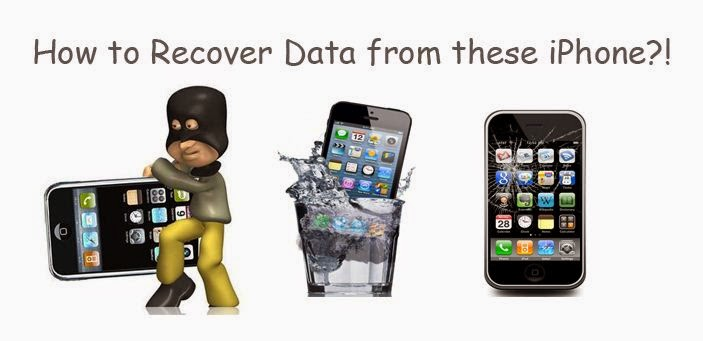 recover iphone data after water damaged broken stolen iphone