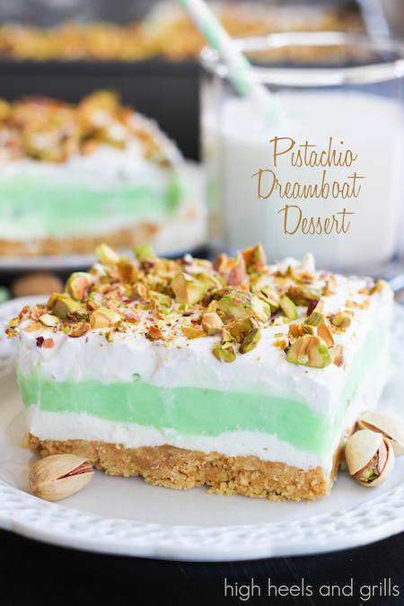 No-Bake Summer Desserts - Pistachio Dreamboat Dessert