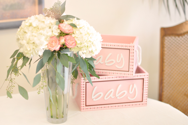 baby shower floral arrangements and decor