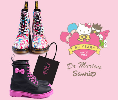 Hello Kitty Dr Martens Sanrio Collection