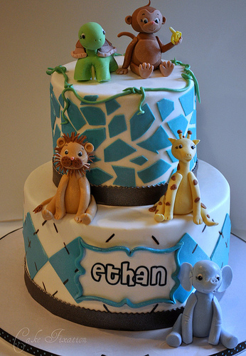 free cake info safari baby shower cake