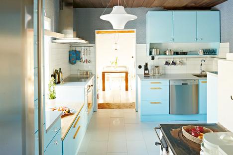 Moderne Retro Keuken : Lille lykke retro keuken licht blauw