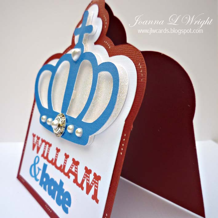 royal wedding background. The Royal Wedding Shaped Card
