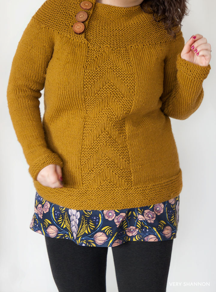 Antrorse Sweater Pattern by Very Shannon