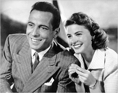 Ingrid Bergman e Humphrey Bogart em Casablanca