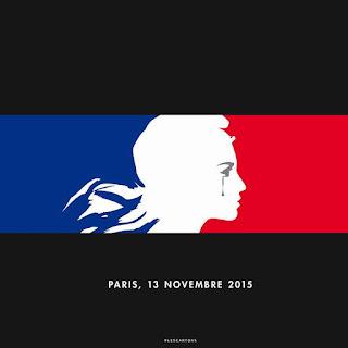 imagen que muestra la republica de Francia llorando