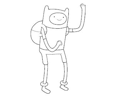 #8 Finn Coloring Page
