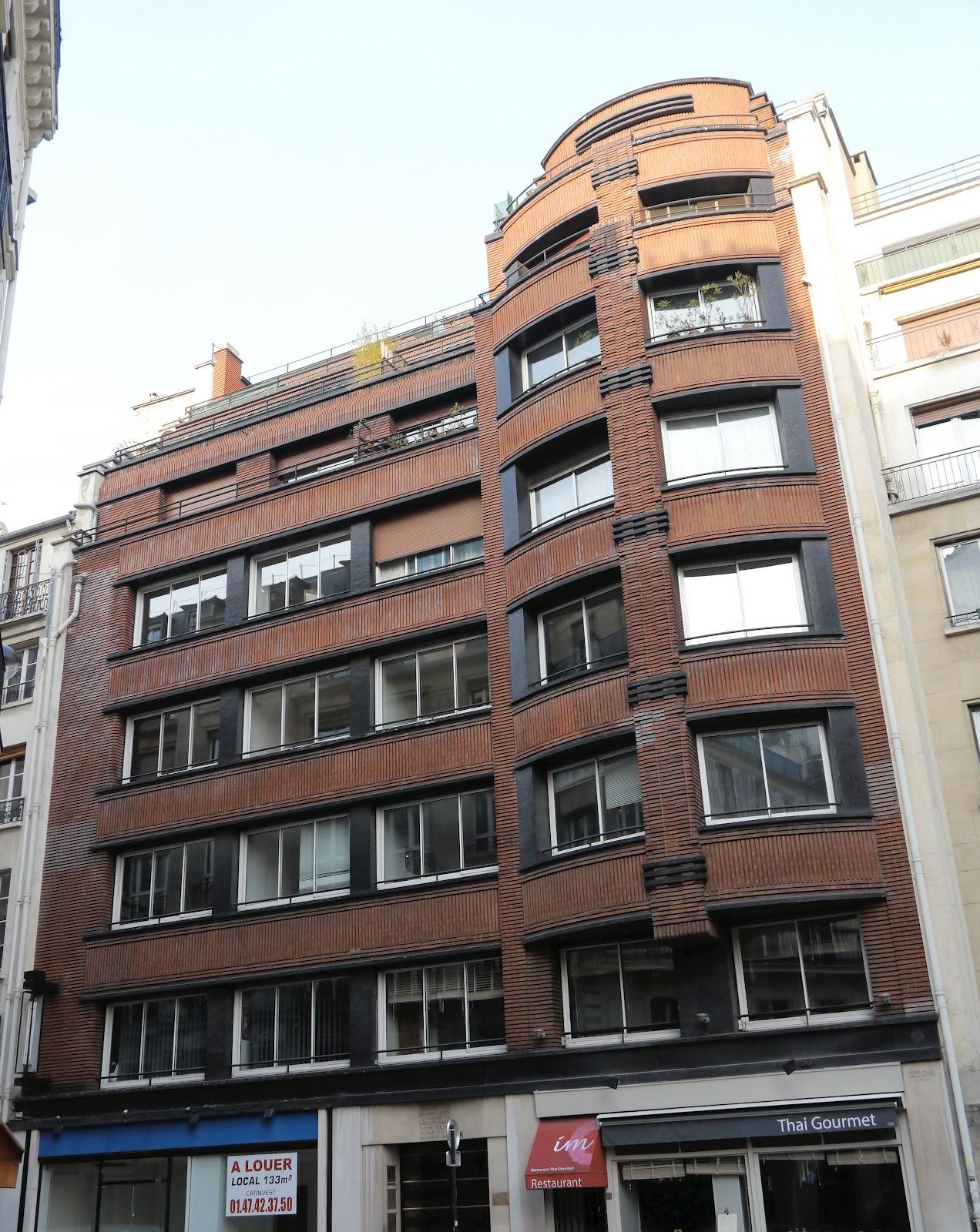 L 39 architecture parisienne des ann es 1920 1940 l 39 art for Facade immeuble moderne