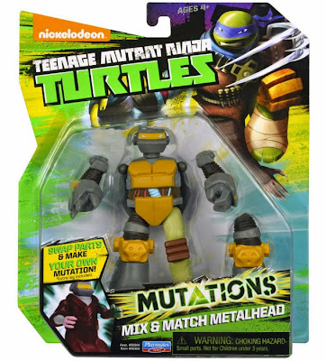 JUGUETES - LAS TORTUGAS NINJA : Mutations  Mix & Match Metalhead | Muñeco - Figura Teenage Mutant Ninja Turtles | TMNT | Nickelodeon Producto Oficial 2015 | Playmates 90388 | A partir de 4 años