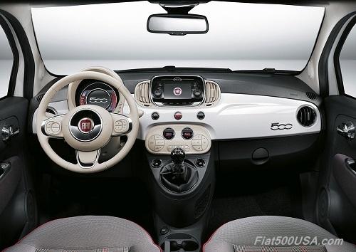 New Fiat 500 White Dashboard