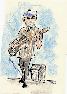 electric guitar, drawing, sketchbook, musician
