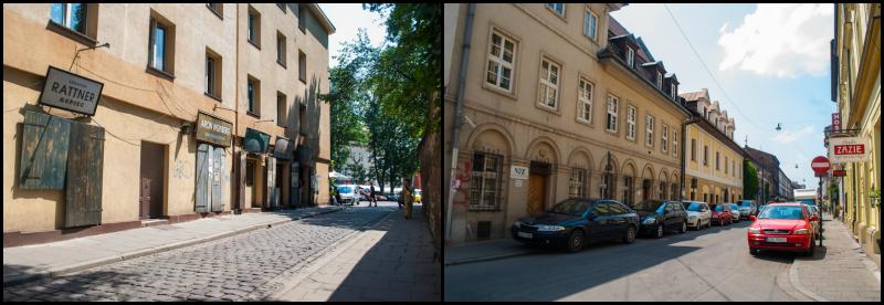 Kraków, Poland's jewish quarter streets