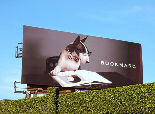 Bookmarc bull terrier billboard