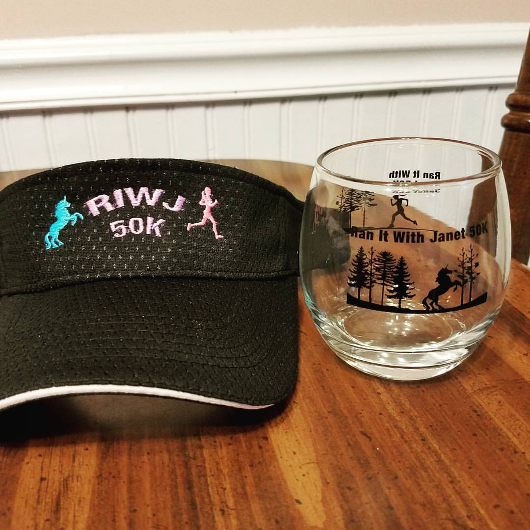 Volunteer Visor and Finisher's Glass