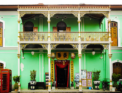 Peranakan mansion outside front