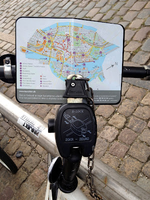 front of Copenhagen bike share bike