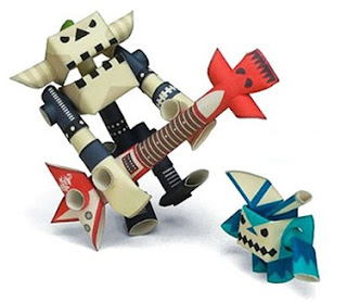 paper robot craft kits at CoolPencilCase.com