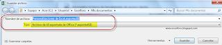 Exportar o Importar la barra de herramientas de acceso rápido personalizada.