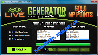 Xbox 360 Live Gold & Microsoft Points Generator FREE Codes Keygen 2013