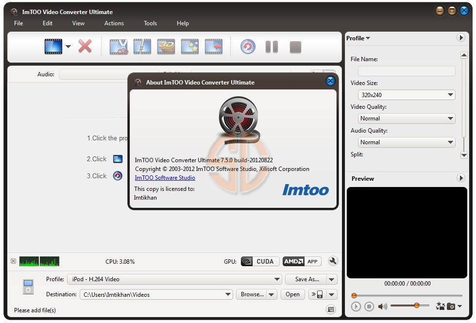 key imtoo video converter ultimate