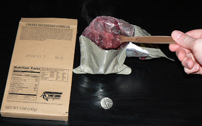MRE Review: Menu 8, Cherry Blueberry Cobbler