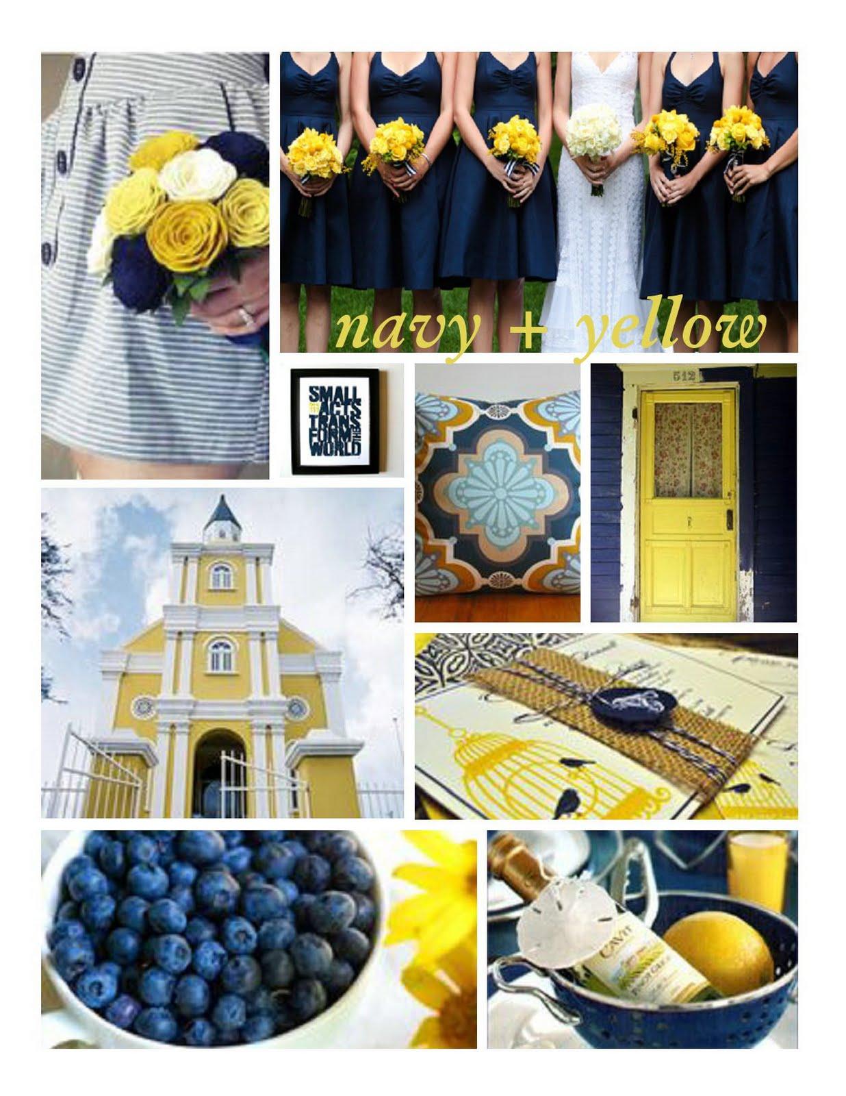 Navy Blue Wedding Decor
