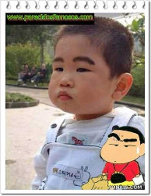 Shin Chan con  niño