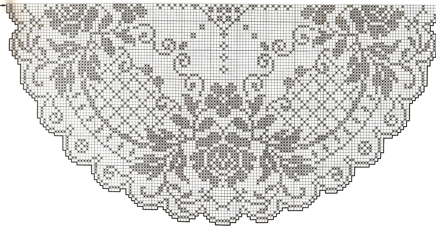 Круговое филейное вязание 28
