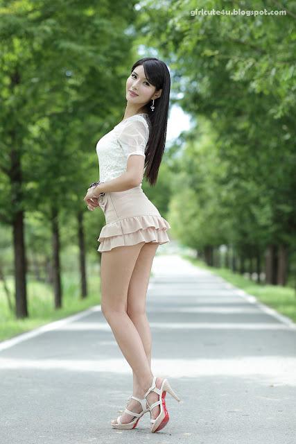6 Cha Sun Hwa-Ruffle Mini Dress-very cute asian girl-girlcute4u.blogspot.com