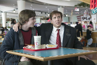 Nick Cage surrounded by fast food in The Weather Man