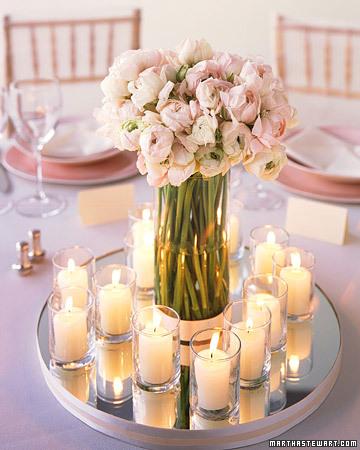 decoração casamento com velas