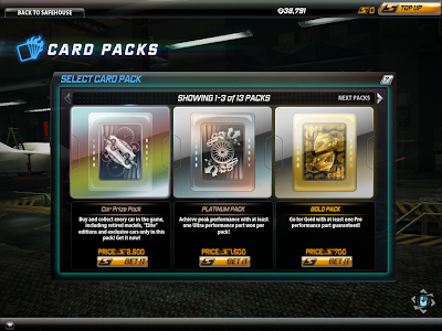 Need For Speed World - Card Packs