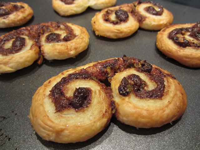 Chocolate pistachio palmiers recipe puff pastry dessert