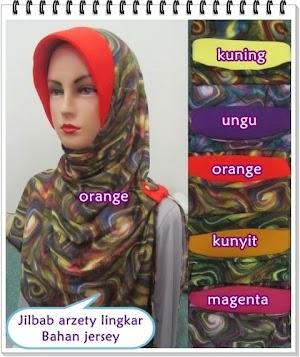 Jilbab Azerty Jersey Motif Lingkar