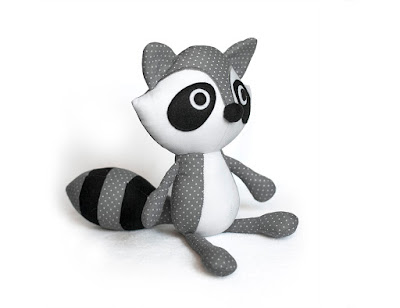 Raccoon plush pattrn